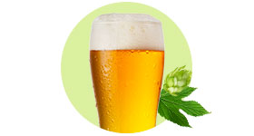 Organic beers spirits cider